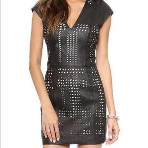 Parker Serena leather dress